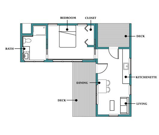 Another In Law Cottage Plan Plantas Pinterest
