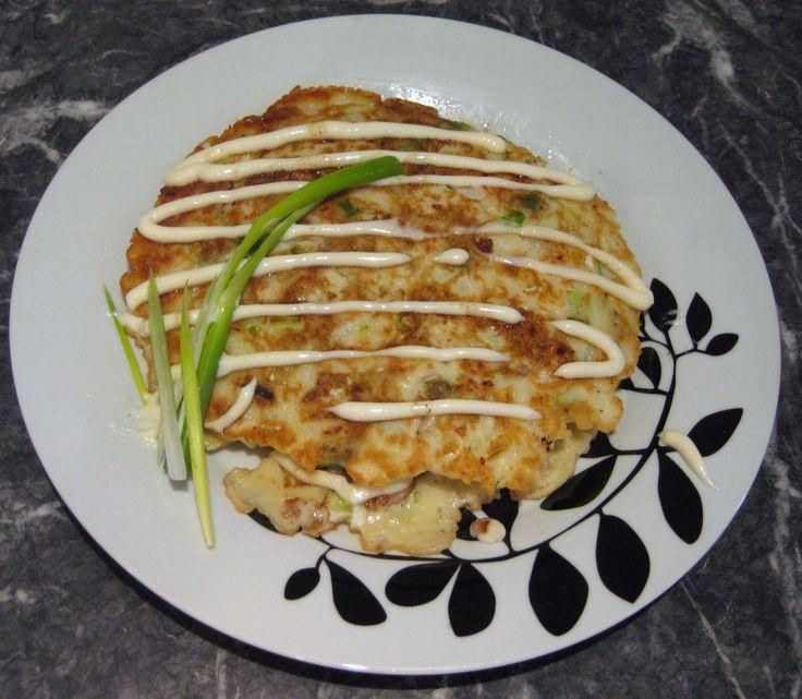 Japanese Pancake (Okonomiyaki) | Food Galore | Pinterest