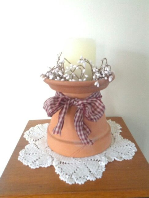 Country decor craft ideas pinterest for Art and craft pot decoration