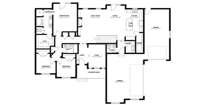 Rambler house plans with basements 1895 sq ft rambler for Rambler floor plans with basement