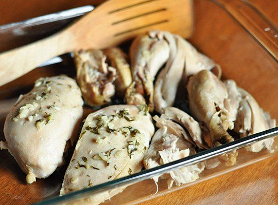 Slow-Cooker Lemon Garlic Chicken | Recipe
