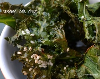 Sesame Kale Chips - A Healthy Way to Get Your Salty Snack On! 2 WWPP