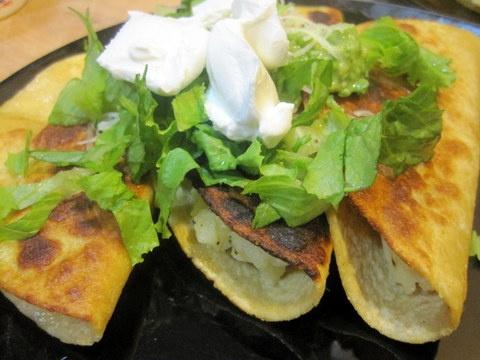 Better With Garlic: Potato Tacos with Avocado and Tomatillo Salsa