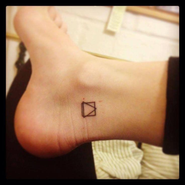 Geometric tattoo small foot tattoo
