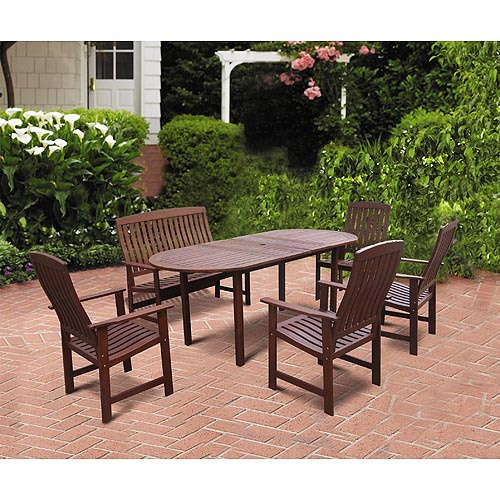 delahey 6 piece outdoor wood dining set search