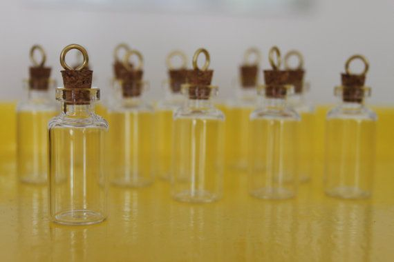 tiny glass bottle charms handmade jewels diy