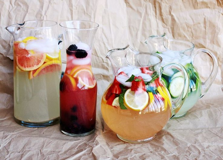 Flavored Lemonade Inspiration - Grapefruit, Strawberry & Basil, Cucumber-Mint, and Blackberry