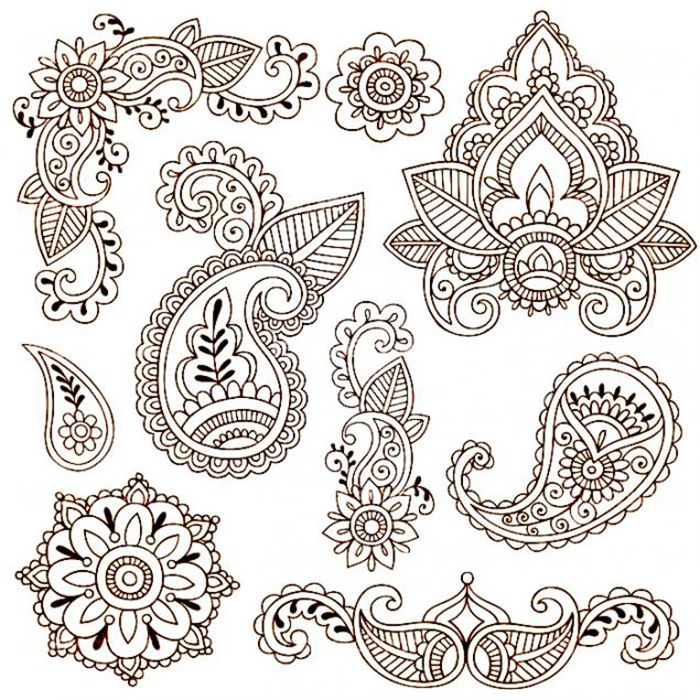 Рисунки хной для начинающих цветы