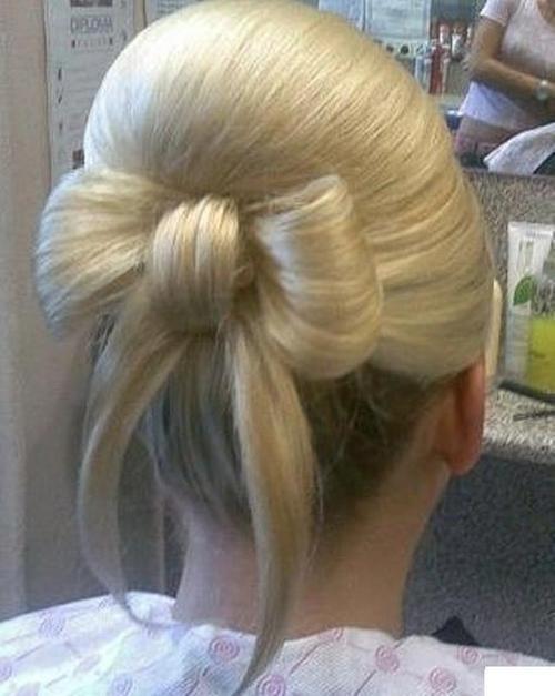 Www Hear Cut Com : Bow updo Hair Pinterest
