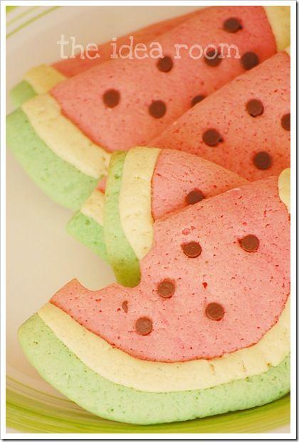 "watermelon"" sugar cookies | Entertaining | Pinterest"