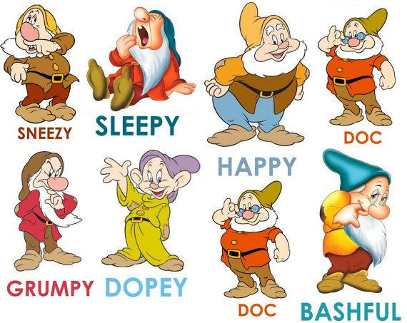 7 dwarfs names with pictures