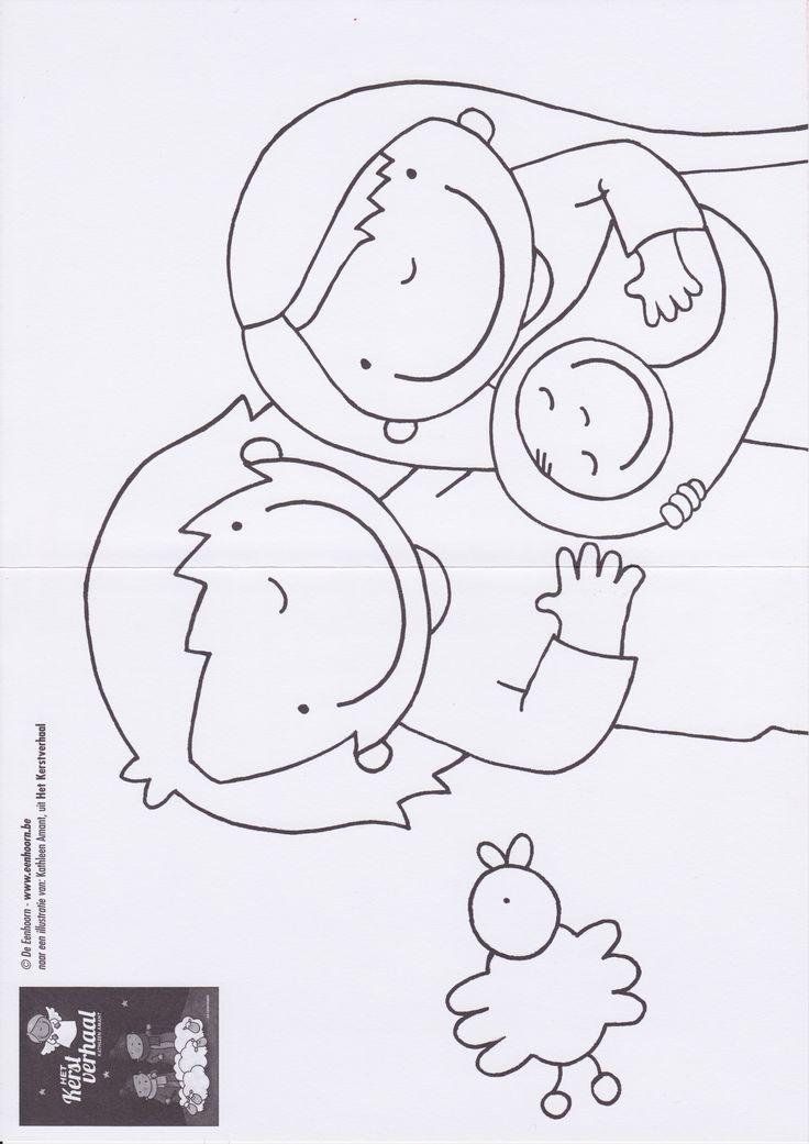 Kleurplaat Jozef en Maria/ Kerstverhaal
