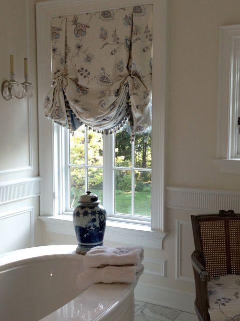 Bathroom Window Ideas Pinterest : Curtain idea for bathroom window treatments kitchen