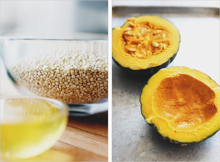 Squash boats with Quinoa- recipe by Sprouted Kitchen http://www ...