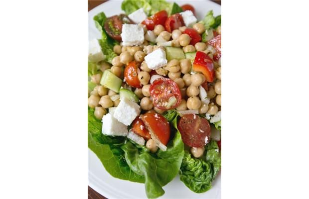 Greek-style Chickpea Salad | canada.com | Recipes | Pinterest