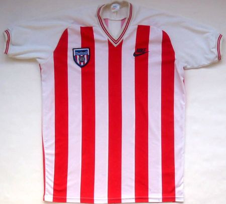 Sunderland Home football shirt 1983 - 1985. First Nike Kit in Europe.