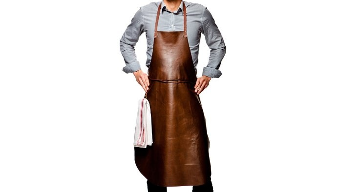 A leather apron?!