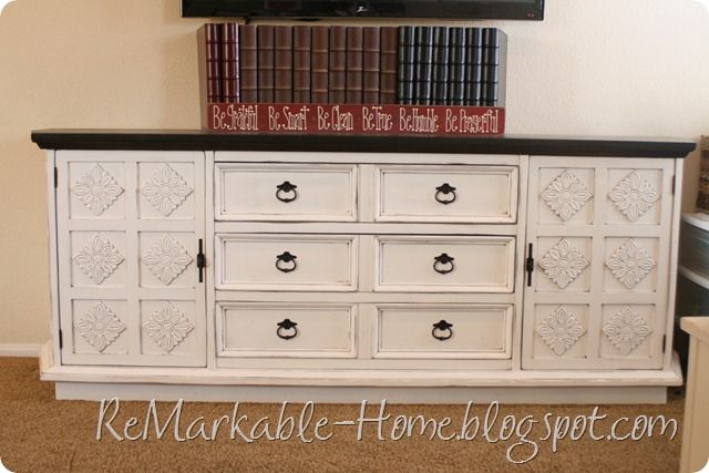 refinished buffet, idea to put in dining room, love the contrast of ...