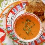 "Google It"": Oven Roasted Heirloom Tomato and Red Pepper Soup with ..."