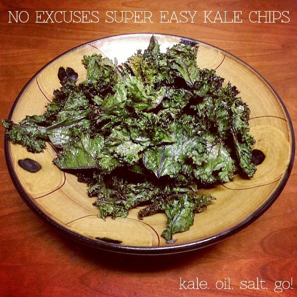 No Excuses Super Easy Kale Chips | Veggie Chips | Pinterest
