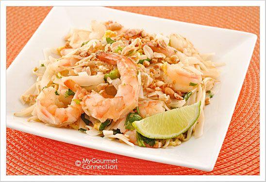 Shrimp Pad Thai from MyGourmetConnection.com