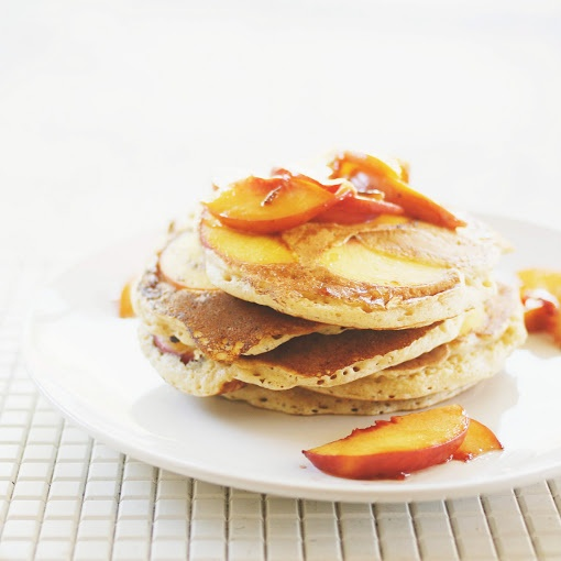 Spiced Peach Pancakes | RECIPES to try | Pinterest