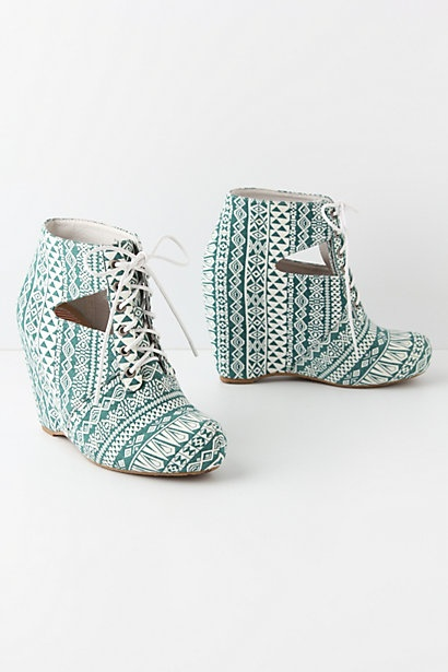 Palaces & Pyramids Wedges by Anthropologie