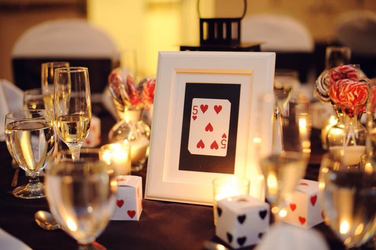 Poker wedding ideas