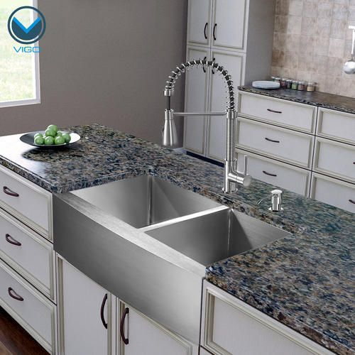 Menards Kitchen Sinks : ... Stainless Steel Double Bowl Kitchen Sink and Faucet Set at Menards