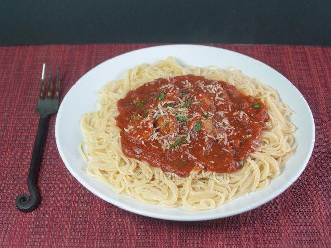 Italian Sausage Pasta Sauce with Spaghetti from CDKitchen.com