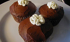 Cream Filled Chocolate Cupcakes | recipes | Pinterest
