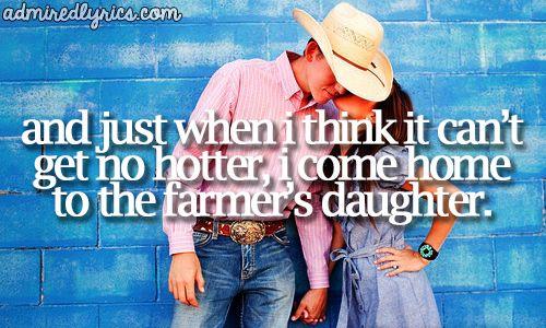 Farmer s daughter rodney atkins song sunday pinterest