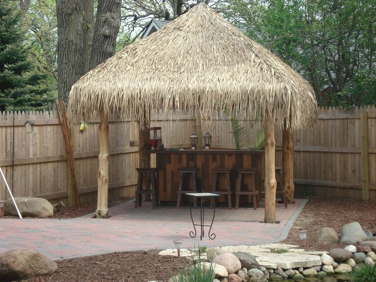 tiki hut and put a little bar and things then next to it put the