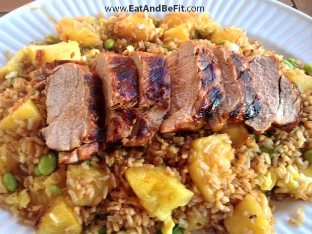 Grilled Ginger Pork with Pineapple Fried Rice ~ The fresh ginger ...
