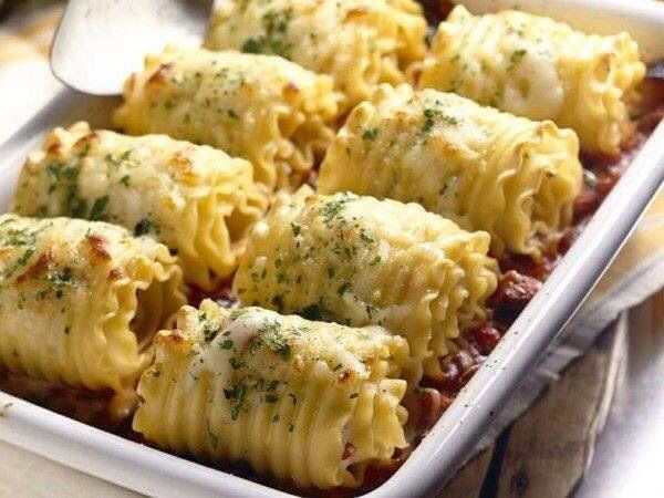 chicken-and-cheese-lasagna-roll-ups/ | Food | Pinterest