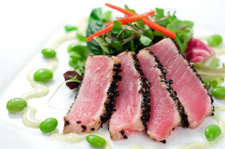 Seared Ahi Tuna with Edamame Salad | Stage 1 Recipes | Pinterest