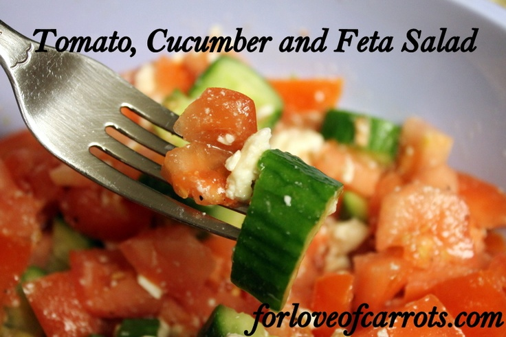 Cucumber, Tomato, And Feta Salad Recipe — Dishmaps