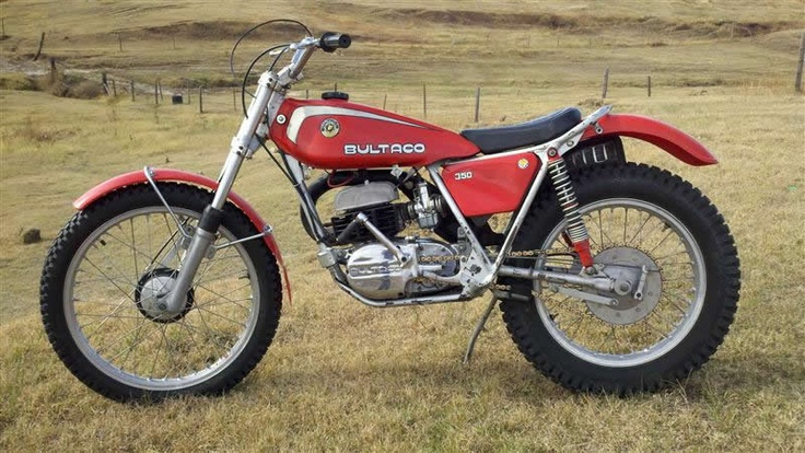 1976 Bultaco T 350 Sherpa Trials Bike... Vintage Motorcycles that are worth a look! Many memories of the Sherpa T.