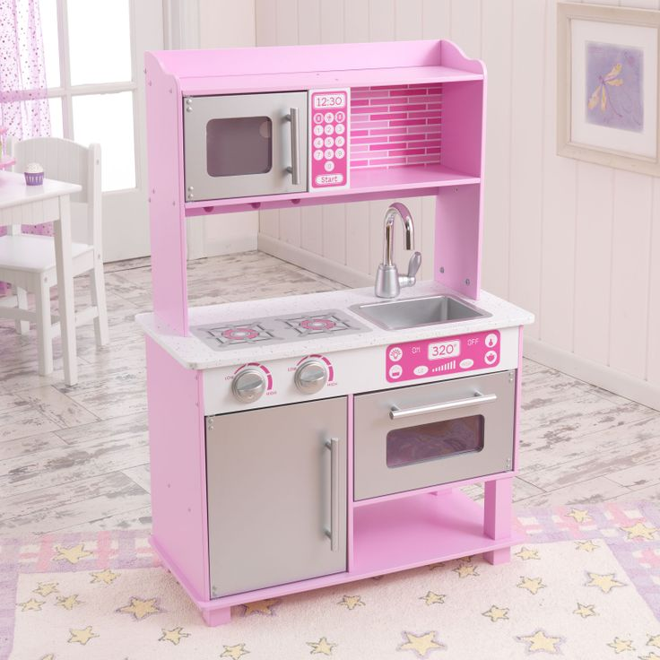 25 25L x 12W x 36 75H inches Kidkraft Pink Toddler Play Kitchen with