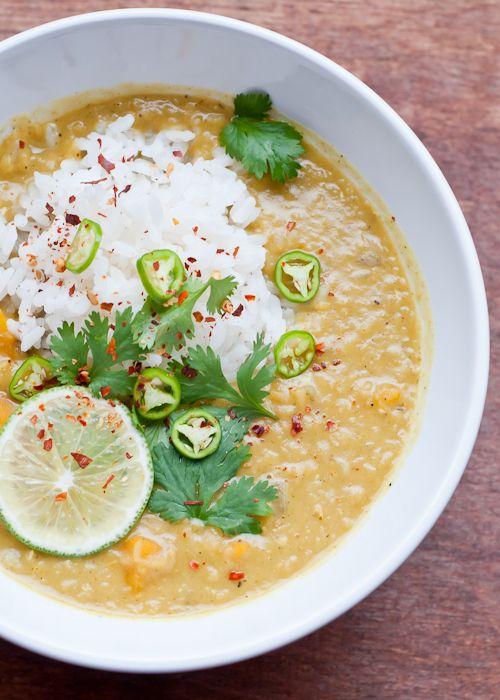... lentil soup recipe: coconut lentil Soup with lemongrass and ginger