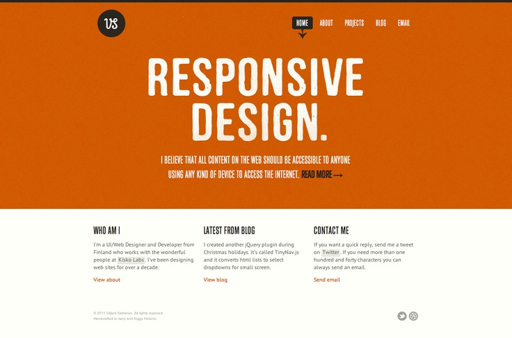 Great example of responsive web design: http://viljamis.com/