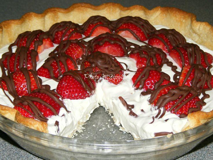Strawberry Cream Pie -- refrigerated pie crust, no-bake cheesecake ...