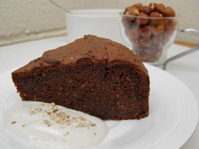 GF Flourless Chocolate Hazelnut Nutella Cake