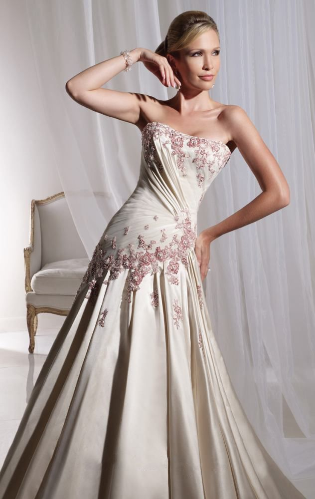 Champagne color wedding dress wedding pinterest for Champagne color wedding dresses