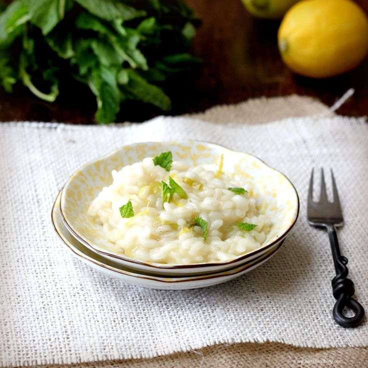 Lemon Risotto with Mint | Mint iron chef night | Pinterest