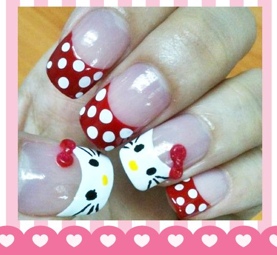 Hello Kitty Red Bow   Nails Art   Pinterest
