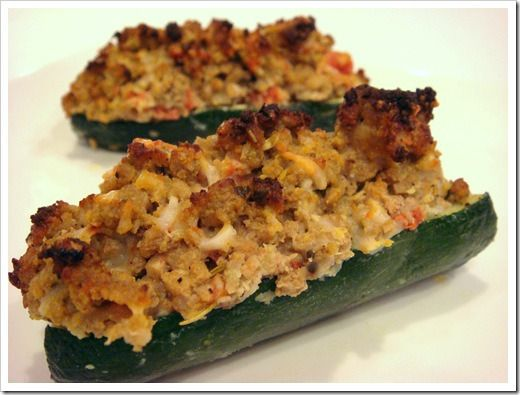Zucchini Boats with Turkey Sausage | Recipes & Food | Pinterest