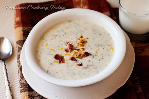 Potato Cheese Soup Recipe | Pressure Cooking Today pressure cooker ...