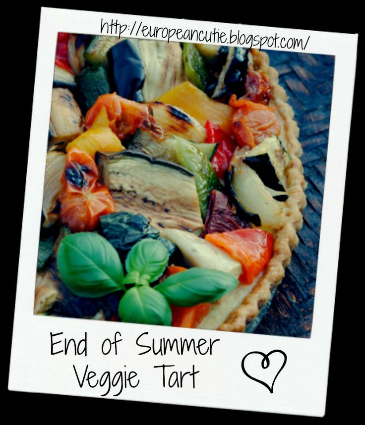 Grilled Vegetable And Hummus Tart Recipe — Dishmaps