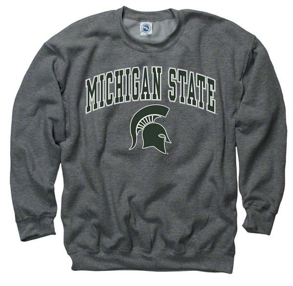 Plus Size Michigan State Spartans Dark Heather Perennial II Crewneck